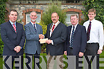 PRESENTATION: David Buttimer Chairman of Fenit Lifeboat being presented with a cheque by President of Tralee Lyons Club Paul Salisbury on Friday with funds raised from select a winning Rose competition durning the Rose of Tralee Festival l-r: Nigel Crowe (Treasurer Fenit Lifeboat), David Buttimer (Chairman Fenit Lifeboat), Paul Salisbury (President Tralee Lyons Club), JP Brick (Press Officer Fenit Lifeboat) and Maurice Fitzgerald (Tralee Lyons Club).   Copyright Kerry's Eye 2008