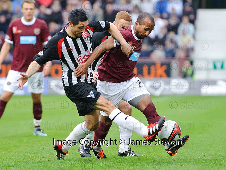 PARS GARY MASON AND HEARTS' MEHDI TAOUIL CHALLENGE