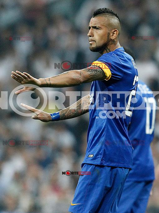 Juventus' Arturo Vidal during Champions League 2014/2015 Semi-finals 2nd leg match.May 13,2015. (ALTERPHOTOS/Acero) /NortePhoto.COM