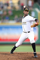 Bowling Green Hot Rods Wilking Rodriquez during the Midwest League All Star Game at Parkview Field in Fort Wayne, IN. June 22, 2010. Photo By Chris Proctor/Four Seam Images