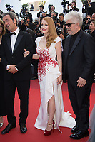 Paolo Sorrentino, Pedro Almodovar &amp; Jessica Chastain at the Closing Gala for the 70th Festival de Cannes, Cannes, France. 28 May 2017<br /> Picture: Paul Smith/Featureflash/SilverHub 0208 004 5359 sales@silverhubmedia.com