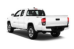 Car pictures of rear three quarter view of 2017 Toyota Tacoma TRD Sport 4 Door Pick Up Angular Rear