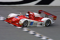 The #27 Dallara Judd of Didier Theys, Mauro Baldi, Max Papis, and Fredy Lienhard races to victory in the 24 Hours of Daytona, Daytona International Speedway, Daytona Beach, FL, February 3, 2002.  (Photo by Brian Cleary/www.bcpix.com)