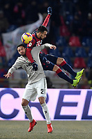 Mattia De Sciglio of Juventus and Nicola Sansone of Bologna compete for the ball during the Italy Cup 2018/2019 football match between Bologna and Juventus at stadio Renato Dall'Ara, Bologna, January 12, 2019 <br />  Foto Andrea Staccioli / Insidefoto