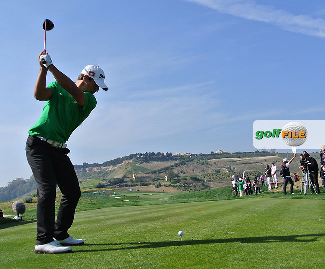 Thorbjorn Olesen (DEN) on the 17th on Day 4 of the 2012 Sicilian Open at Verdura Golf and Spa Resort, Sicily, Italy...(Photo Jenny Matthews/www.golffile.ie)