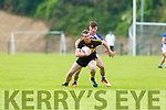 Shane Doolan Dr Crokes is tackled by Gearoid Savage during the County league clash in Killarney on Saturday