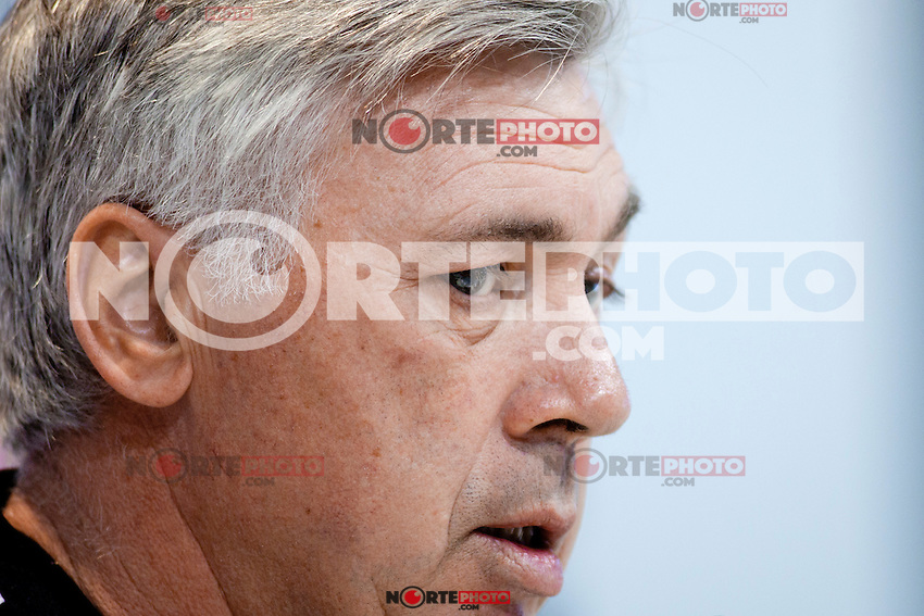 Italian coah of Real Madrid soccer team Carlo Ancelotti during a press conference at Real Madrid City in Madrid. January 23, 2015. (ALTERPHOTOS/Caro Marin) /NortePhoto<br />