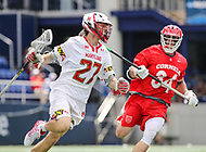 Annapolis, MD - May 20, 2018: Maryland Terrapins Christian Zawadski (27) in action during the quarterfinal game between Maryland vs Cornell at  Navy-Marine Corps Memorial Stadium in Annapolis, MD.   (Photo by Elliott Brown/Media Images International)