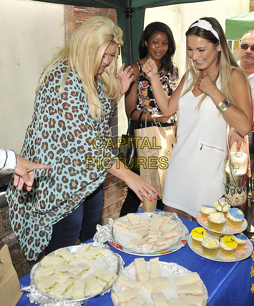 ESSEX, ENGLAND - JUNE 28: Gemma Collins, Sam Faiers attends the Minnie's Boutique Marie Curie Tea Party, Minnie's Boutique, Ropers Yard., on Saturday June 28, 2014 in Essex, England, UK.<br /> CAP/CAN<br /> &copy;Can Nguyen/Capital Pictures