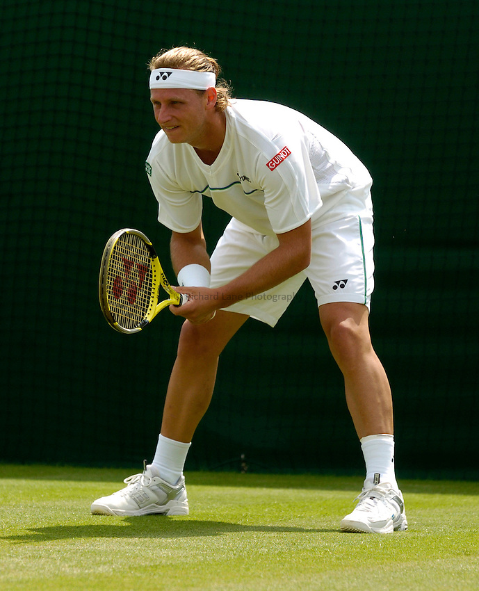 Photo: Richard Lane..Wimbledon Championships. 27/06/2006. .David Nalbandian of Argentina.