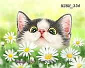 Kayomi, CUTE ANIMALS, LUSTIGE TIERE, ANIMALITOS DIVERTIDOS, paintings+++++,USKH334,#ac#, EVERYDAY ,cat,cats