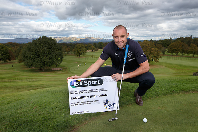 Kris Boyd at Glenbervie Golf Club as he looks ahead to next week's Rangers v Hibs clash at Ibrox