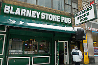 The Blarney Stone Pub in Lower Manhattan in New York is seen on Saturday, February 27, 2010. In advance for St. Patrick's Day. (© Richard B. Levine)
