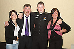 Karl O'Donoghue with his parent Alan and Maria and his sister Niamh at the Party for the 2010 U21 World Pool Champion in Alverno House, Laytown....Photo NEWSFILE/Jenny Matthews.(Photo credit should read Jenny Matthews/NEWSFILE)....This Picture has been sent you under the condtions enclosed by:.Newsfile Ltd..The Studio,.Millmount Abbey,.Drogheda,.Co Meath..Ireland..Tel: +353(0)41-9871240.Fax: +353(0)41-9871260.GSM: +353(0)86-2500958.email: pictures@newsfile.ie.www.newsfile.ie.FTP: 193.120.102.198.