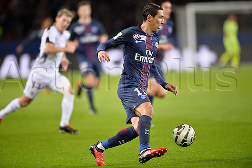 11.01.2017. Paris, France. French league cup football, Paris Saint Germain versus FC Metz.  Angel DI MARIA (psg)
