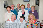 BIRTHDAY GIRL: Ann Walsh, The Kerries, Tralee (seated right) celebrated her birthday last Friday night in Cassidy's restaurant, Tralee along with her husband Domnick and son Donal also seated. Back l-r: Martina Slattery, Denis Brennan, Michael Slattery, Mazie Brennan with Dan and Eileen Curran.