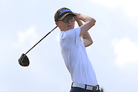 Michael Duignan (Royal Dublin) on the 10th tee during the Final round in the Connacht U16 Boys Open 2018 at the Gort Golf Club, Gort, Galway, Ireland on Wednesday 8th August 2018.<br /> Picture: Thos Caffrey / Golffile
