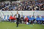 Sinsheim 24.01.2009, 1.Fu&szlig;ball Bundesliga Stadioner&ouml;ffnung bei 1899 TSG Hoffenheim in der Rhein-Neckar Arena, Hoffenheims Trainer Ralf Rangnick vor der Spielerbank<br /> <br /> Foto &copy; Rhein-Neckar-Picture *** Foto ist honorarpflichtig! *** Auf Anfrage in h&ouml;herer Qualit&auml;t/Aufl&ouml;sung. Belegexemplar erbeten.