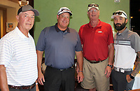NWA Democrat-Gazette/CARIN SCHOPPMEYER Gerald Williams (from left), Pat Shinall, Perry Webb and Jayson Palk gather at the Reinert Cup Classic.