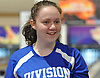 Kaitlyn O'Toole of Levittown Division reacts after a frame in a Nassau County girls bowling match against MacArthur at Levittown Lanes on Wednesday, Jan. 3, 2018. She bowled a 391 series with a high game of 136.
