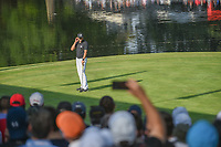Sergio Garcia (ESP) reacts to barely missing his putt on 17  during round 3 of the World Golf Championships, Mexico, Club De Golf Chapultepec, Mexico City, Mexico. 3/3/2018.<br /> Picture: Golffile | Ken Murray<br /> <br /> <br /> All photo usage must carry mandatory copyright credit (&copy; Golffile | Ken Murray)