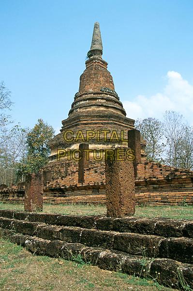 A chedi, Kamphaeng Phet Historical Park, Kamphaeng Phet, Thailand