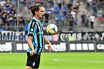 05.08.2019, Carl-Benz-Stadion, Mannheim, GER, 3. Liga, SV Waldhof Mannheim vs. TSV 1860 Muenchen, <br /> <br /> DFL REGULATIONS PROHIBIT ANY USE OF PHOTOGRAPHS AS IMAGE SEQUENCES AND/OR QUASI-VIDEO.<br /> <br /> im Bild: Valmir Sulejmani (SV Waldhof Mannheim #9)<br /> <br /> Foto © nordphoto / Fabisch