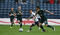 Preston North End's Sean Maguire battles with Newcastle United's Federico Fernandez<br /> <br /> Photographer Stephen White/CameraSport<br /> <br /> Football Pre-Season Friendly - Preston North End v Newcastle United - Saturday July 27th 2019 - Deepdale Stadium - Preston<br /> <br /> World Copyright © 2019 CameraSport. All rights reserved. 43 Linden Ave. Countesthorpe. Leicester. England. LE8 5PG - Tel: +44 (0) 116 277 4147 - admin@camerasport.com - www.camerasport.com