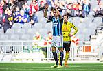Stockholm 2014-04-06 Fotboll Allsvenskan Djurg&aring;rdens IF - Halmstads BK :  <br /> Djurg&aring;rdens Martin Broberg jublar mot publiken efter att ha gjort 1-0<br /> (Foto: Kenta J&ouml;nsson) Nyckelord:  Djurg&aring;rden DIF Tele2 Arena Halmstad HBK jubel gl&auml;dje lycka glad happy