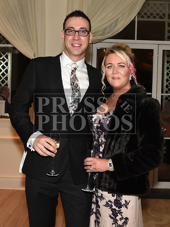 Stuart Matthews and Michelle Keenan at the Baile Atha Fherdia Traders Awards in the Nuremore hotel Carrickmacross. Photo:Colin Bell/pressphotos.ie