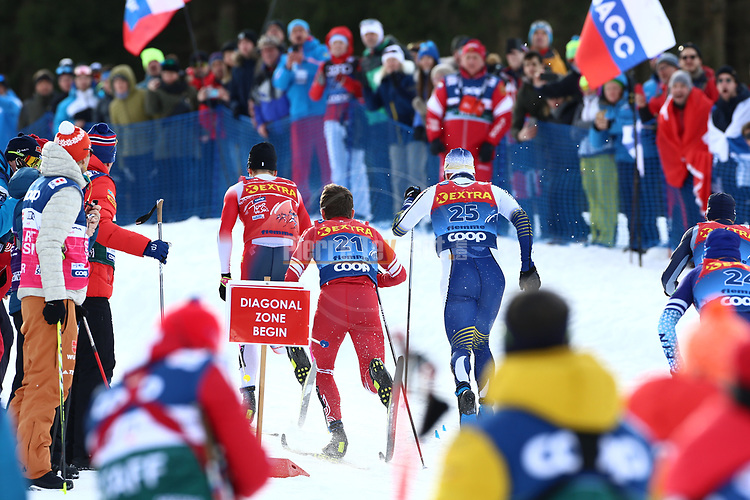 FIS Tour de Ski - Cross Country Ski World Cup 2020  in Val Di Fiemme, on January 4, 2020; Men and Women Sprint Classic ; Johannes Klaebo, Denis Stitsov, Karl-Johan Westberg