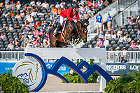 BEL-Niels Bruynseels rides Cas de Liberte during the Second Competition - Round 1. FEI World Team and Individual Jumping Championship. 2018 FEI World Equestrian Games Tryon. Thursday 20 September. Copyright Photo: Libby Law Photography