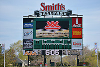 Salt Lake Bees at Smith's Ballpark on April 9, 2014 in Salt Lake City, Utah.  (Stephen Smith/Four Seam Images)