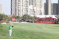 Kiradech Aphibarnrat (THA) on the 18th during Round 4 of the 2013 Avantha Masters, Jaypee Greens Golf Club, Greater Noida, Delhi, 17/3/13..(Photo Jenny Matthews/www.golffile.ie)