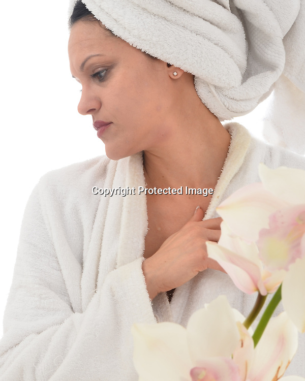 Lifestyle stock photos woman at spa