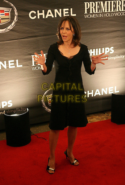 SALLY FIELD.The 13th Annual Premiere Women in Hollywood - Arrivals held at the Beverly Hills Hotel, Beverly Hills, California, USA, 20 September 2006..full length black dress hands gestures funny.Ref: ADM/ZL.www.capitalpictures.com.sales@capitalpictures.com.©Zach Lipp/AdMedia/Capital Pictures.