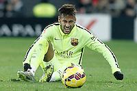 FC Barcelona's Neymar Santos Jr injured during La Liga match.February 8,2015. (ALTERPHOTOS/Acero) /NORTEphoto.com