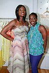 (left) Lola Ogunnaike, Arise 360 contributor, and Nana Eyeson-Akiwowo AHN Founder and Director, co-host the African Health Now - Fashion Fete event, at the Tracy Reese store on 641 Hudson Street, June 20, 2013.