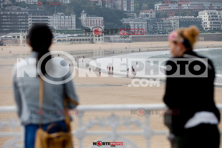 Daily life San Sebastian (North Spain) during the 62st San Sebastian Film Festival. September 26, 2014. (ALTERPHOTOS/Caro Marin) /NortePhoto.com