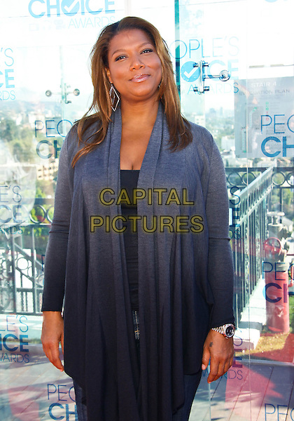 QUEEN LATIFAH .At the People's Choice Awards Nominations Announcement Press Conference  held at The London West Hotel, West Hollywood, CA, USA, .9th November 2010..half length grey gray cardigan .CAP/ADM/TC.©T. Conrad/AdMedia/Capital Pictures.