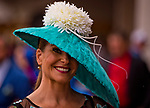 LOUISVILLE, KY - MAY 05: A woman wears a fancy feathered hat on Kentucky Derby Day at Churchill Downs on May 5, 2018 in Louisville, Kentucky. (Photo by Scott Serio/Eclipse Sportswire/Getty Images)