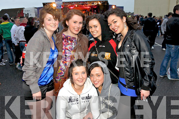 Music fans from Newcastle West enjoying the Costal Rocks open air concert last Friday night in Ballybunion, pictured l-r: Ashley Walshe, Jessica Harrold, Suzanne Sheehy, Jennifer Kiely, Marcella Moloney and Elis Scanlan.