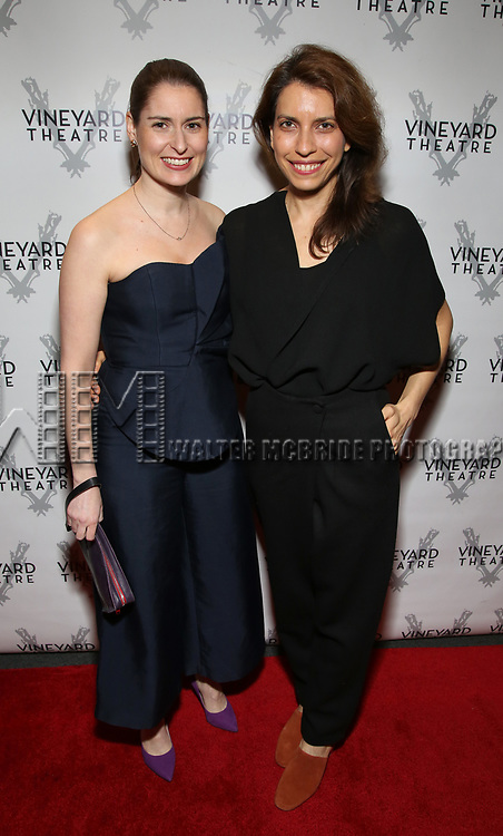 "Suzanne Appel and Sarah Stern attending the Opening Night Performance for The Vineyard Theatre production of  ""Do You Feel Anger?"" at the Vineyard Theatre on April 2, 2019 in New York City."