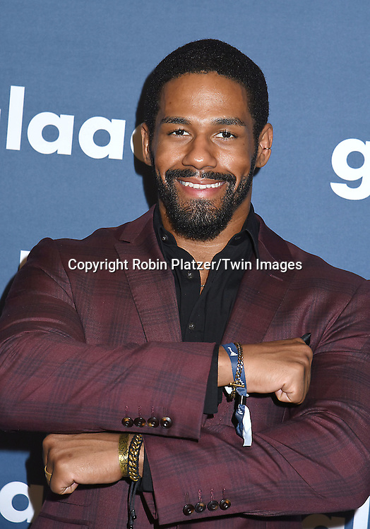 Darren Young attends the 27th Annual GLAAD Media Awards on May 14, 2016 at the Waldorf Astoria Hotel in New York City, New York, USA.<br /> <br /> photo by Robin Platzer/Twin Images<br />  <br /> phone number 212-935-0770