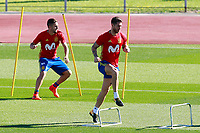 Spain's Koke Resurrecccion (l) and Sergio Ramos during training session. October 3,2017.(ALTERPHOTOS/Acero)<br /> <br /> Foto Alterphotos / Insidefoto <br /> ITALY ONLY