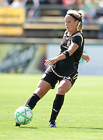 24 May 2009: Kristen Graczyk of the FC Gold Pride kicks the ball during the game against Los Angeles Sol at Buck Shaw Stadium in Santa Clara, California.  Los Angeles Sol defeated FC Gold Pride, 2-0.