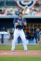Tampa Bay Rays designated hitter Luke Scott #30 during a Grapefruit League Spring Training game against the Boston Red Sox at Charlotte County Sports Park on February 25, 2013 in Port Charlotte, Florida.  Tampa Bay defeated Boston 6-3.  (Mike Janes/Four Seam Images)