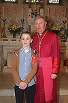 Jake O'Brien with Bishop Smith.Slane Confirmation..Picture: Fran Caffrey / www.newsfile.ie ..