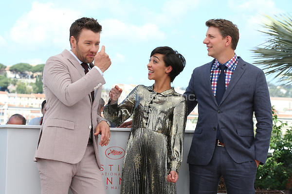 Actors Joel Edgerton, Ruth Negga and director Jeff Nichols attend the 'Loving' photocall during the 69th annual Cannes Film Festival at the Palais des Festivals on May 16, 2016 in Cannes, France.<br /> CAP/GOL<br /> &copy;GOL/Capital Pictures /MediaPunch ***NORTH AMERICA AND SOUTH AMERICA ONLY***