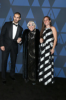LOS ANGELES - OCT 27:  Alessandro Santoni, Lina Wertmuller, Maria Zulima Job at the 11th Annual Governors Awards at the Dolby Theater on October 27, 2019 in Los Angeles, CA